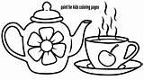Coloring Tea Sets Teapot Drawing Cup Toy Learn Template Afkomstig Pt Google Resultado Imagem sketch template