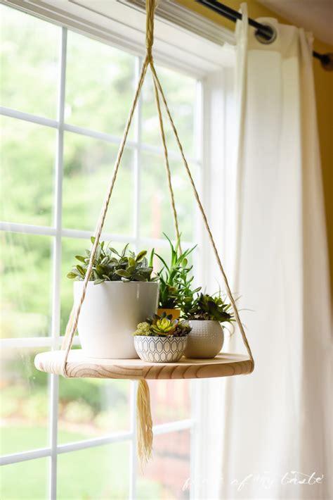 Diy Round Hanging Floating Shelf From Wood Shelterness
