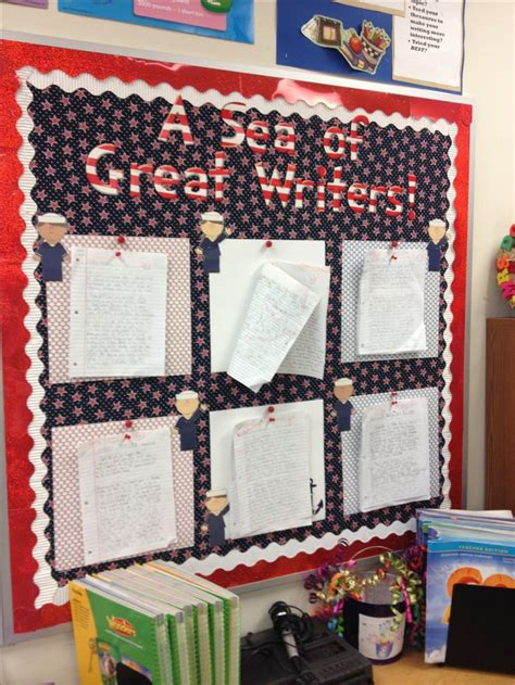 Nautical Themed Classroom Decorations by A Sea Of Great Writers Bulletin Board For Nautical Themed