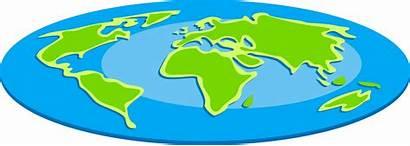 Flat Globe Earth Clipart Clip Oval Royalty