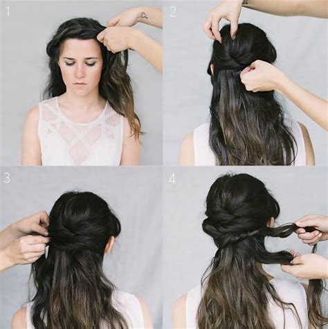 wedding hair tutorial crown braid chignon wedding idea of the day lonny