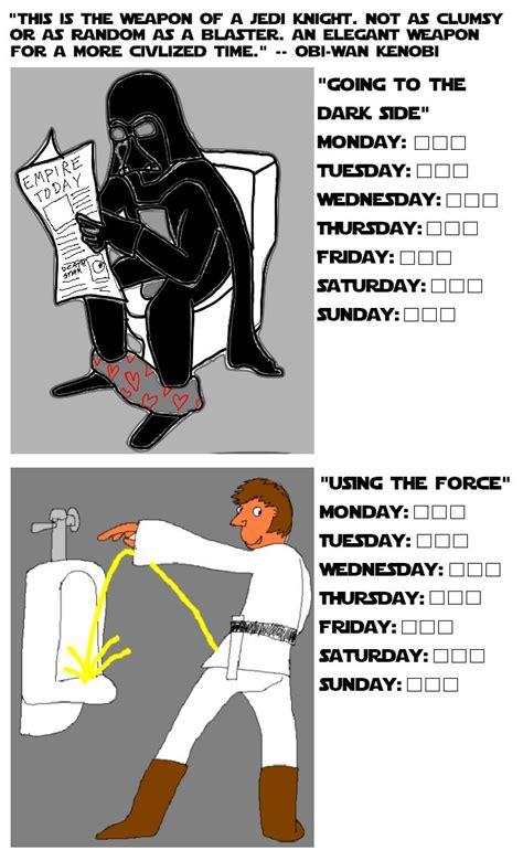 star wars potty chart funny  funny  haha