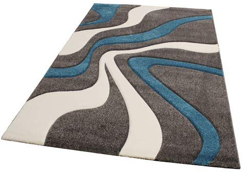 designer teppich mit konturenschnitt modern grau t 252 rkis weiss wohn und schlafbereich designer