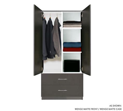 2 Door Wardrobe Closet wardrobe closet w 2 doors 2 shelves and 2 exterior