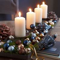 decorating with candles A silver Xmas | Architecture & Interior Design