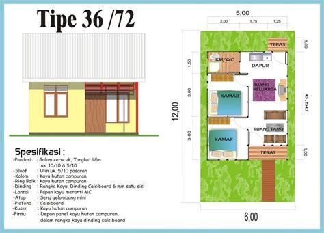 spesifikasi  denah rumah minimalis type   desain