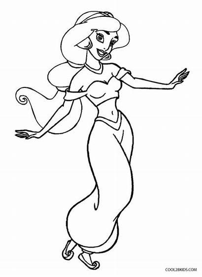 Coloring Jasmine Pages Printable Jasmin Disney Easy