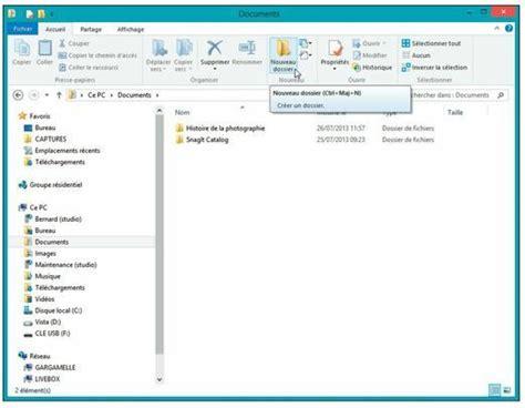 bureau explorateur tutoriel windows 8 1 gestion des dossiers et fichiers