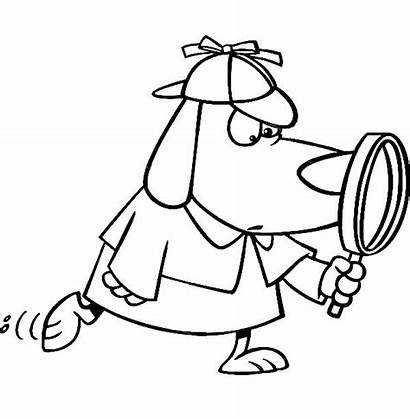 Detective Magnifying Coloring Glass Dog Pages Slipper