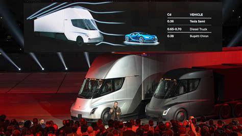 tesla semi truck   aerodynamic   bugatti