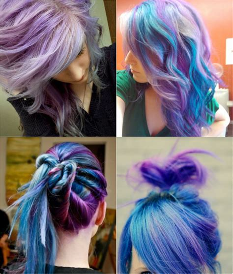 colorful ombre hair blue and violet ombre hair color you can try out in 2013