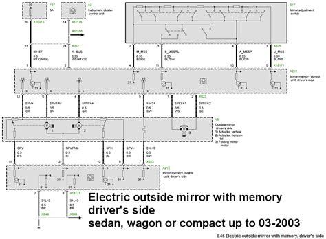 bmw e46 side mirror wiring diagram bmw side mirror wiring diagram bmw get free image about