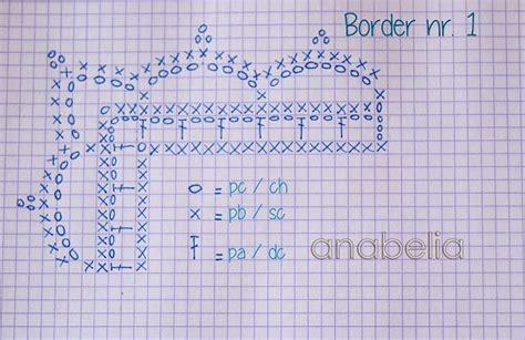 como nr 1 crochet border pattern nr 1 by anabelia crochet tutorial
