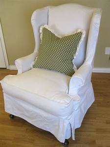 custom slipcovers by shelley white denim wingback chair With furniture slipcovers for wingback chairs