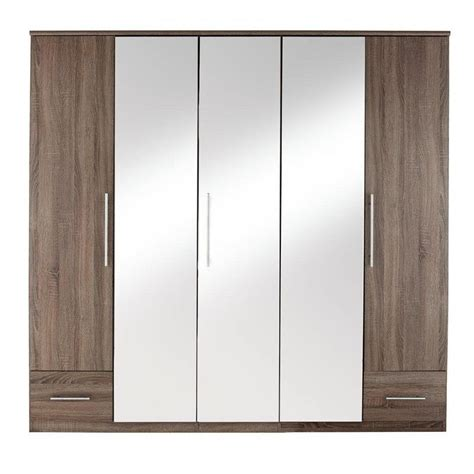 2 Door Wardrobe With Mirror And Drawers by Cologne Wardrobes Drawer Chests The Furniture Co