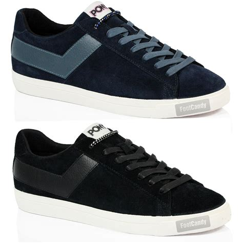 genuine leather lace up sneakers mens boys pony topstar suede leather oxford vintage retro