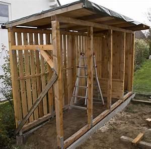 Gartenhaus Mit Holzlager : bau eines holzlagers ~ Whattoseeinmadrid.com Haus und Dekorationen