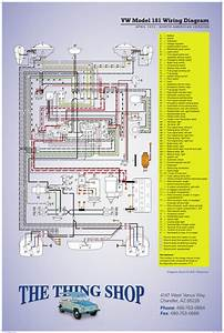 Vw Thing Wiring Diagram Poster