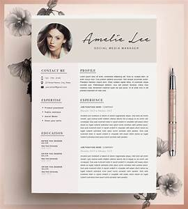 creative resume template cv template instant by cvdesignco With creative resume layout