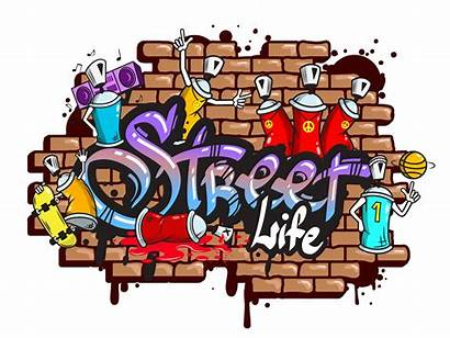 Graffiti Word Characters Vector Composition Clipart Graphics