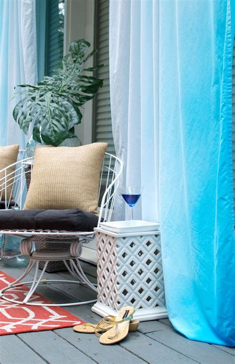 hometalk outdoor cabana curtains for cheap