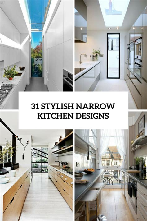 ideas for narrow kitchens 306 the coolest kitchen designs of 2016 digsdigs