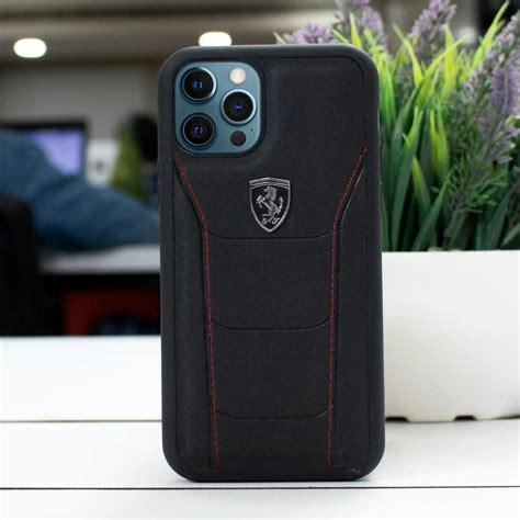 Ferrari® genuine leather case with embossed stripes for iphone 12 pro max red. CG Mobile LaFerrari Case With Logo iPhone 12 Pro Max- Black - CaseBerry