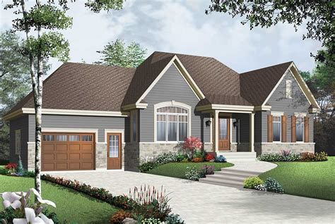 cozy bungalow  attached garage dr architectural designs house plans