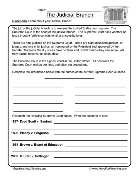 government worksheets teaching