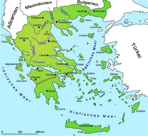 landkarte europa griechenland gross karte rhodos