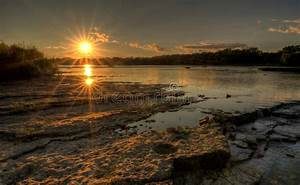 River Rapids Sunset stock image. Image of ohio, nature ...