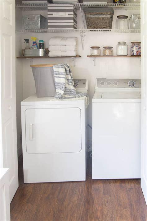 organized laundry closet home base