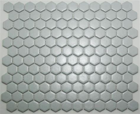 gray hex tile lyric 1 x 1 satin glazed porcelain mosaic hex tile in mist gray