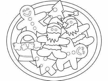 Coloring Cookies Christmas Pages Cookie Gingerbread Printable