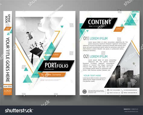 portfolio template portfolio design template vector minimal brochure stock vector 519803122