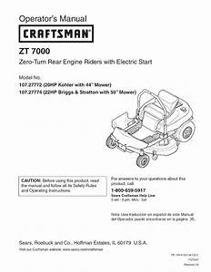 Craftsman Zts 7000 Price
