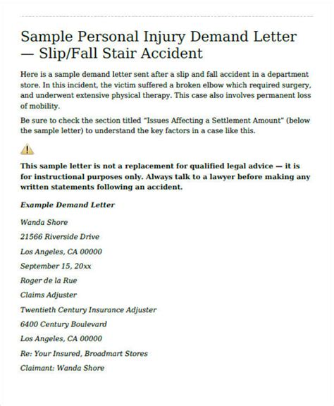 Demand Letter Template For Personal Injury by 37 Demand Letter Sles Sle Templates