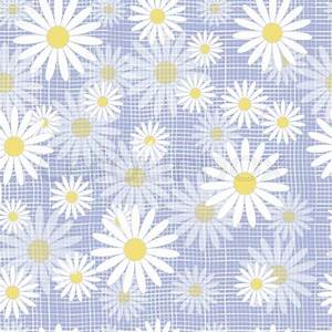 Vector seamless cute beautiful minimalist graphics daisy