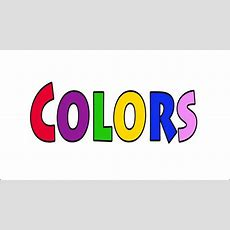Learn Colors  Talking Flashcards Youtube