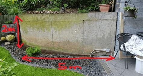Verkleidung Mauer Garten by Gartenmauer Verkleiden Holz Home Ideen