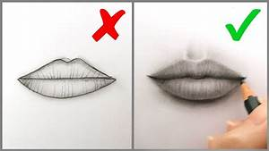 Don'ts & Do's: How to Draw Realistic Lips (Mouth) – Easy ...