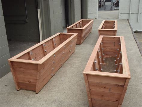 large redwood planter boxes made for bamboo