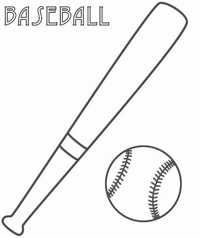 Baseball Coloring Field Pages Bat Diamond Printable