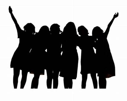 Silhouette Friends Clipart Clip Friendship Woman Female