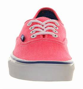 Vans Authentic Neon Pink Palace Blue Twill Uni Sports