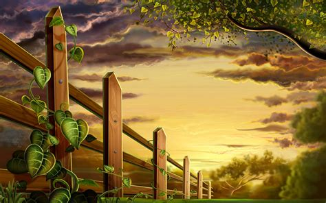 Animal Scenery Wallpaper - colorful animals and plants scenery wallpaper 11 design
