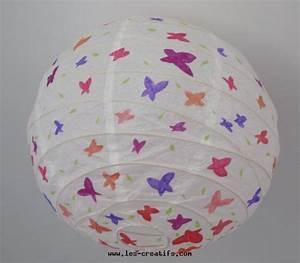 Lustre Bébé Fille : lustre papier aux papillons ~ Teatrodelosmanantiales.com Idées de Décoration