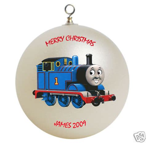 thomas the train christmas ornament personalized photo gifts for you personalized the engine ornament