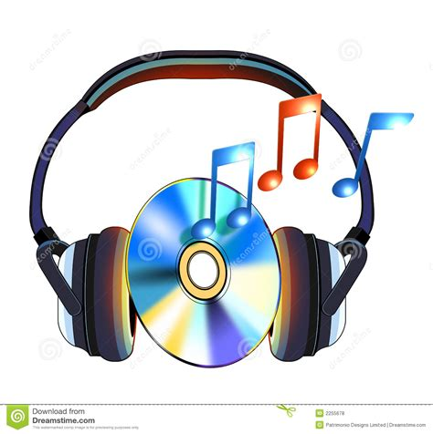 Headphone With Cd Music Royalty Free Stock Photos - Image