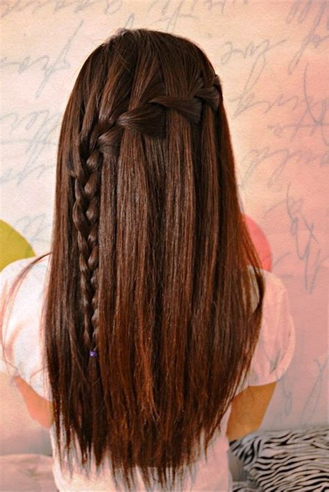 pictures  waterfall braid  long straight hair